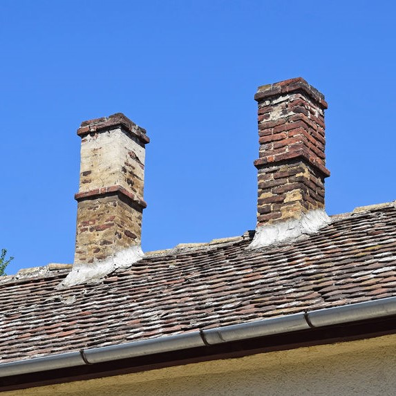 broken down chimney