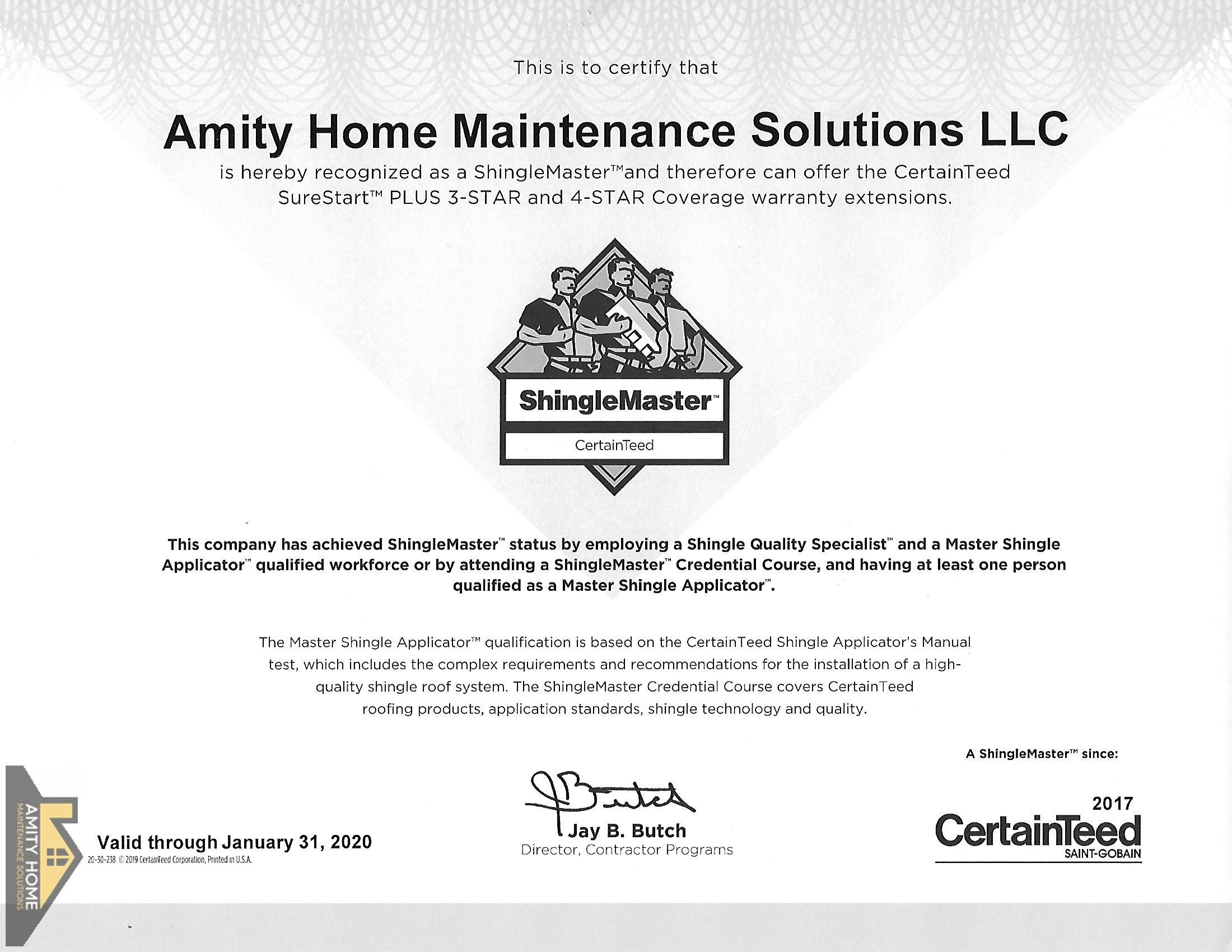 Certifications Amity Home Maintenance Solutions